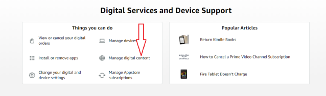 click on your devices & content